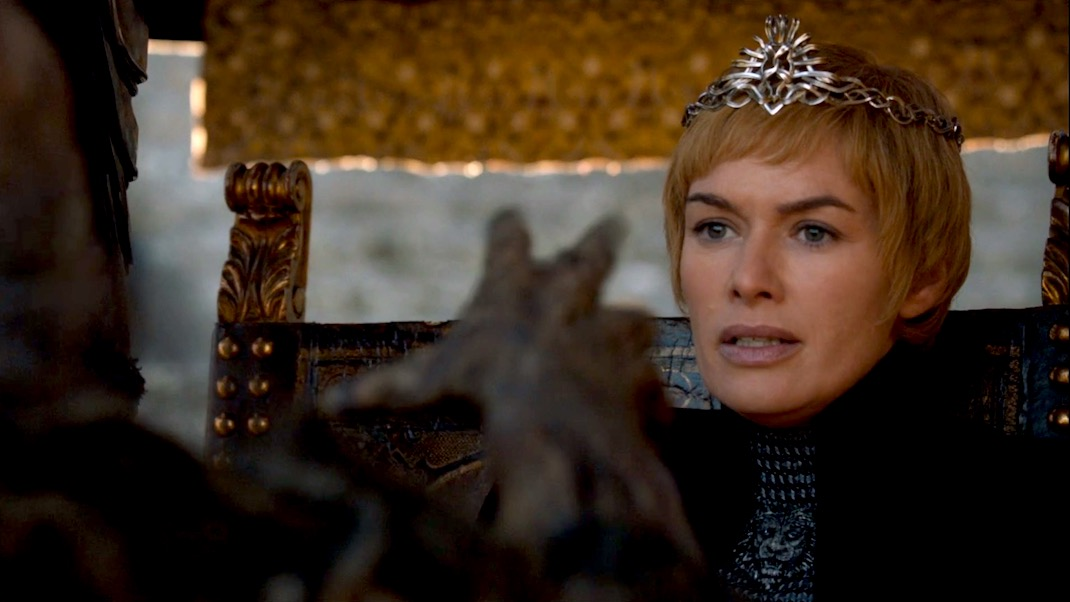 Cersei and the Wight in GOT 7X07 - The Dragon and the Wolf