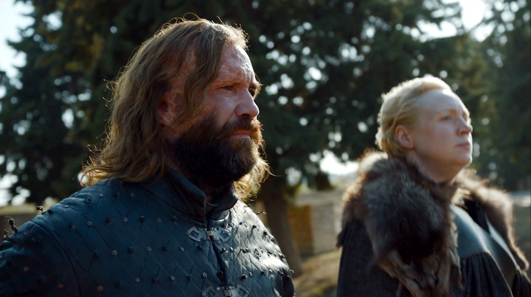The Hound and Brienne in GOT 7x07 - The Dragon and the Wolf