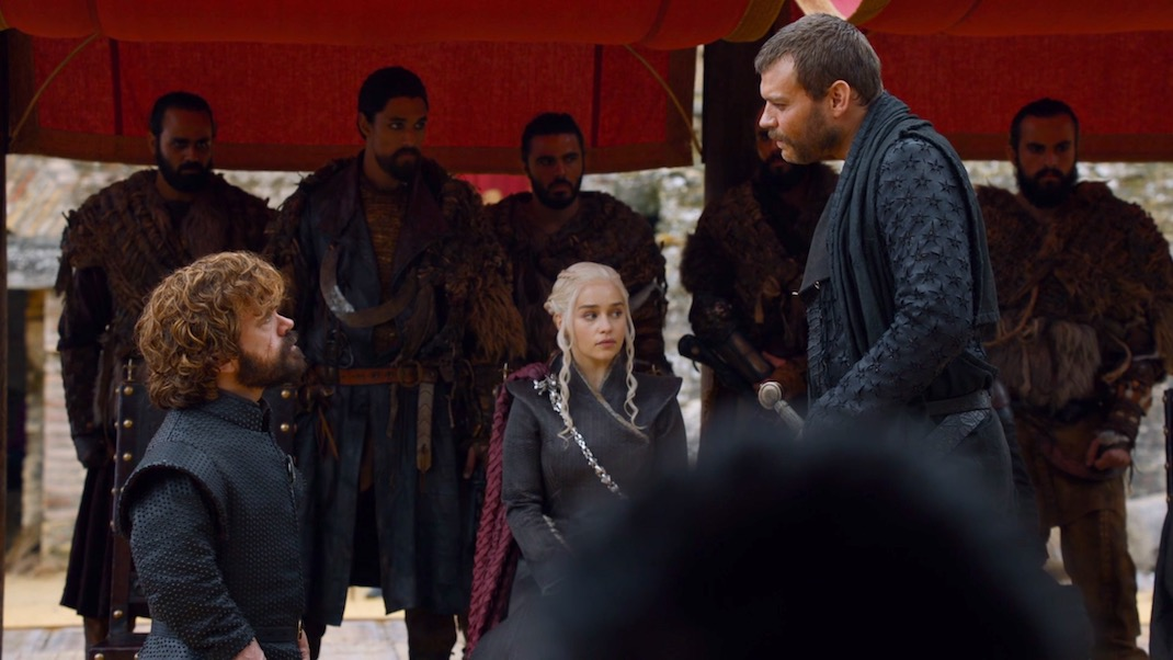 Tyrion and Euron in GOT 7x07 - The Dragon and the Wolf