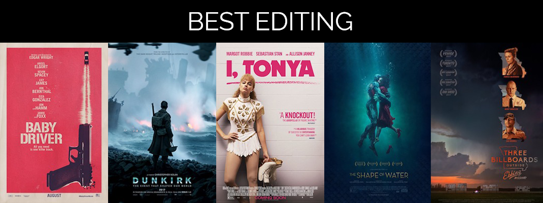 2018 Oscars: Editing