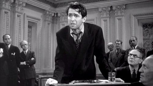 Jimmy Stewart in Mr. Smith Goes to Washington