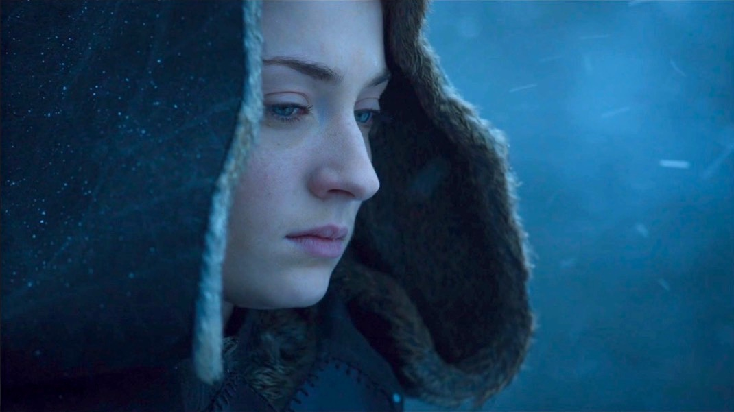 Sansa (Sophie Turner) in GOT 7x07 - The Dragon and the Wolf