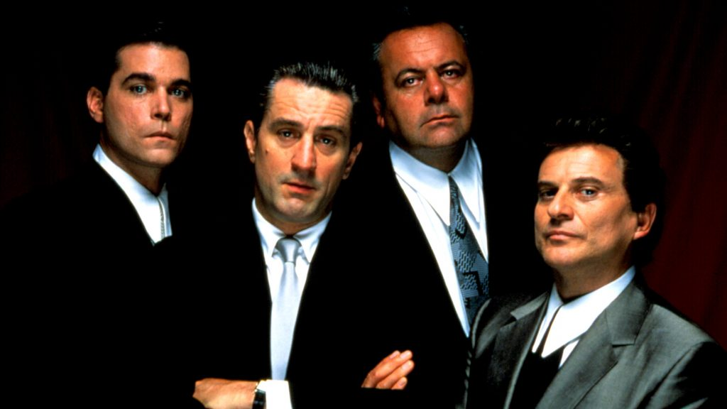 Ray Liotta, Robert De Niro, Paul Sorvino, and Joe Pesci in GOODFELLAS