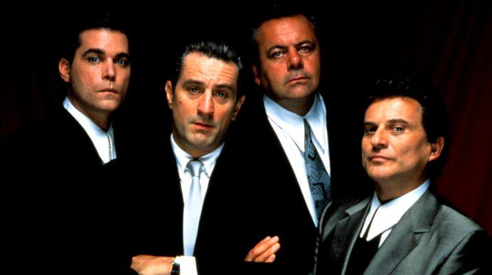 Ray Liotta, Robert De Niro, Paul Sorvino, and Joe Pesci in GOODFELLAS