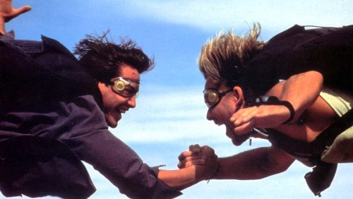 Keanu Reeves and Patrick Swayze in POINT BREAK (1991)