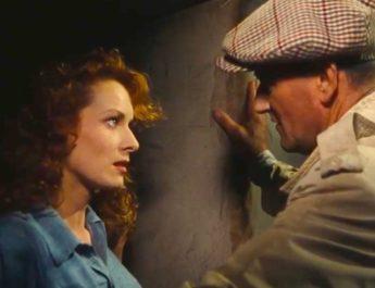 Maureen O'Hara and John Wayne in THE QUIET MAN