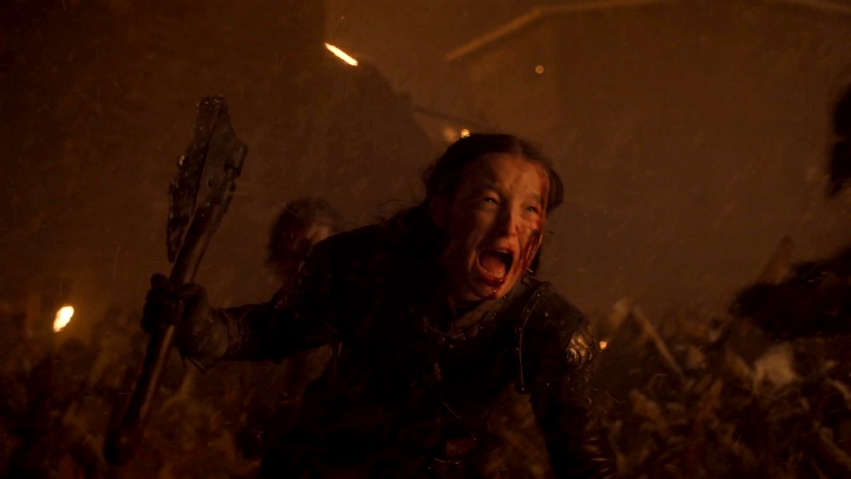 Lyanna Mormont in GoT 8x03 - The Long Night