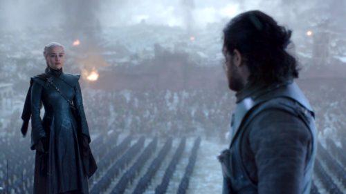 Daenerys Targaryen and Jon Snow in GoT 8x06 - The Iron Throne