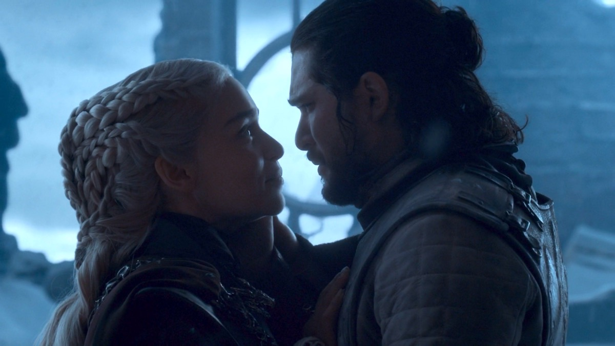 Daenerys and Jon in GoT 8x06 - The Iron Throne