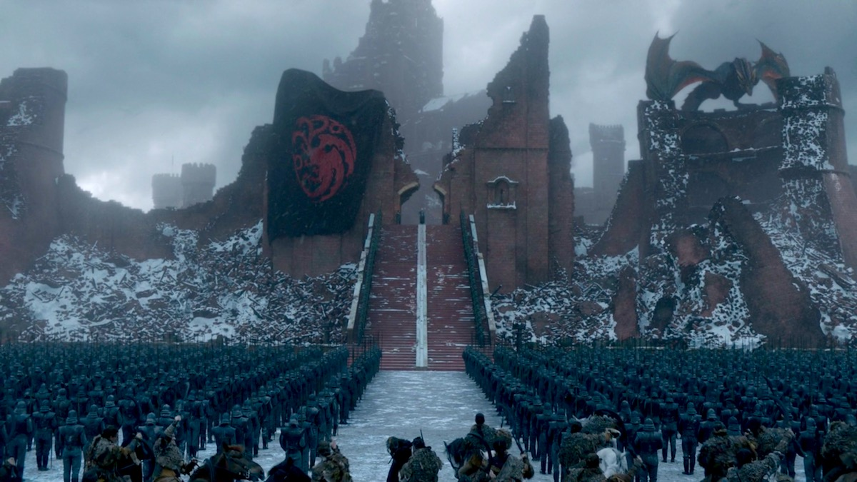 Dany addresses the troops in GoT 8x06