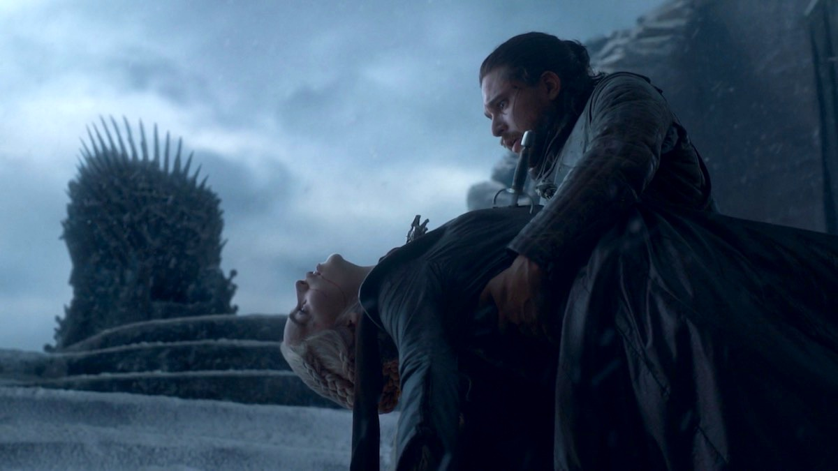 Dany and Jon in GoT 8x06 - The Iron Throne
