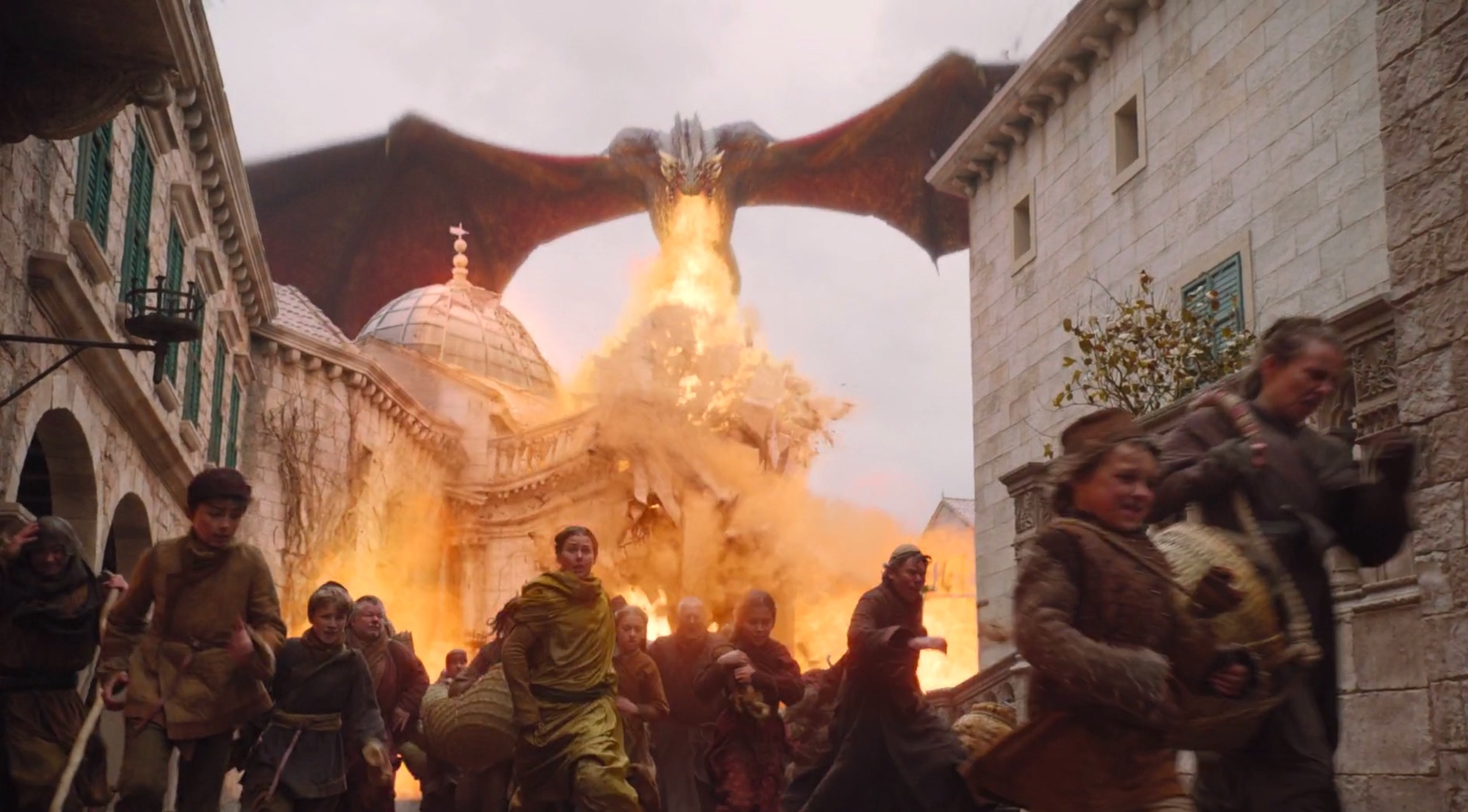 Drogon in GoT 8x05 - The Bells