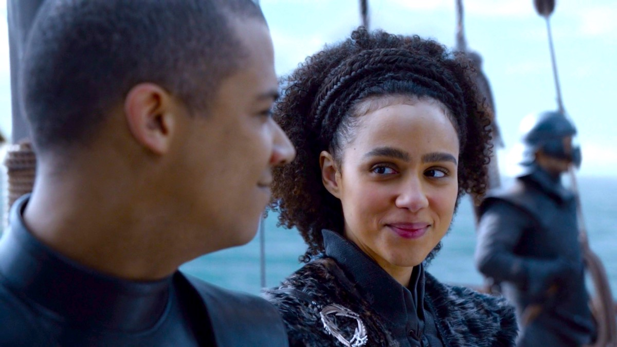 Grey Worm and Missandei in GoT 8x04 - The Last of the Starks