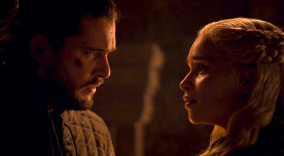Jon and Daenerys in GoT 8x04 - The Last of the Starks