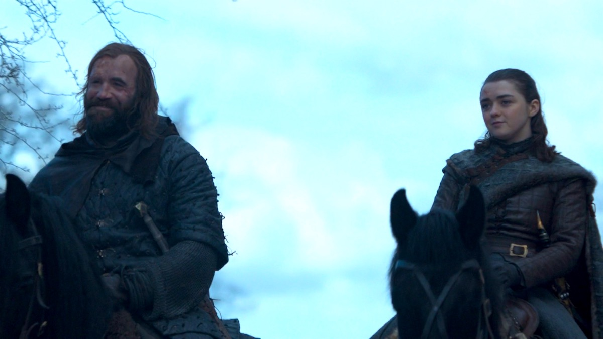 The Hound and Arya in GoT 8x04 - The Last of the Starks