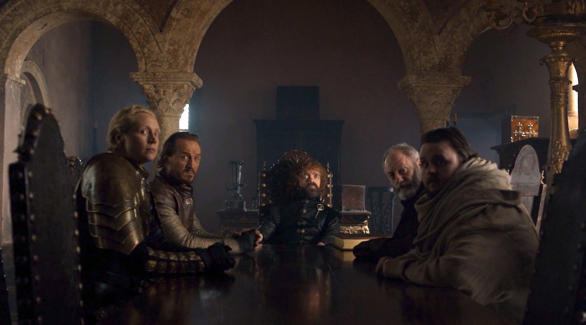 The Small Council in GoT 8x06 - The Iron Throne