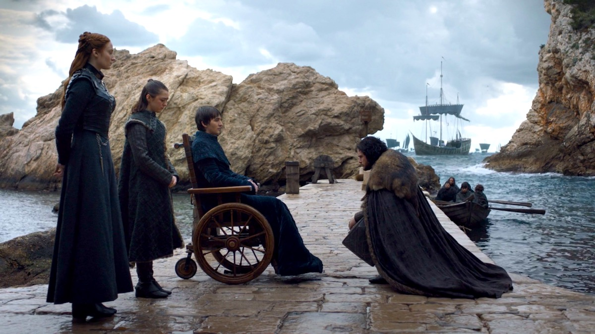 The Starks in GoT 8x06 - The Iron Throne