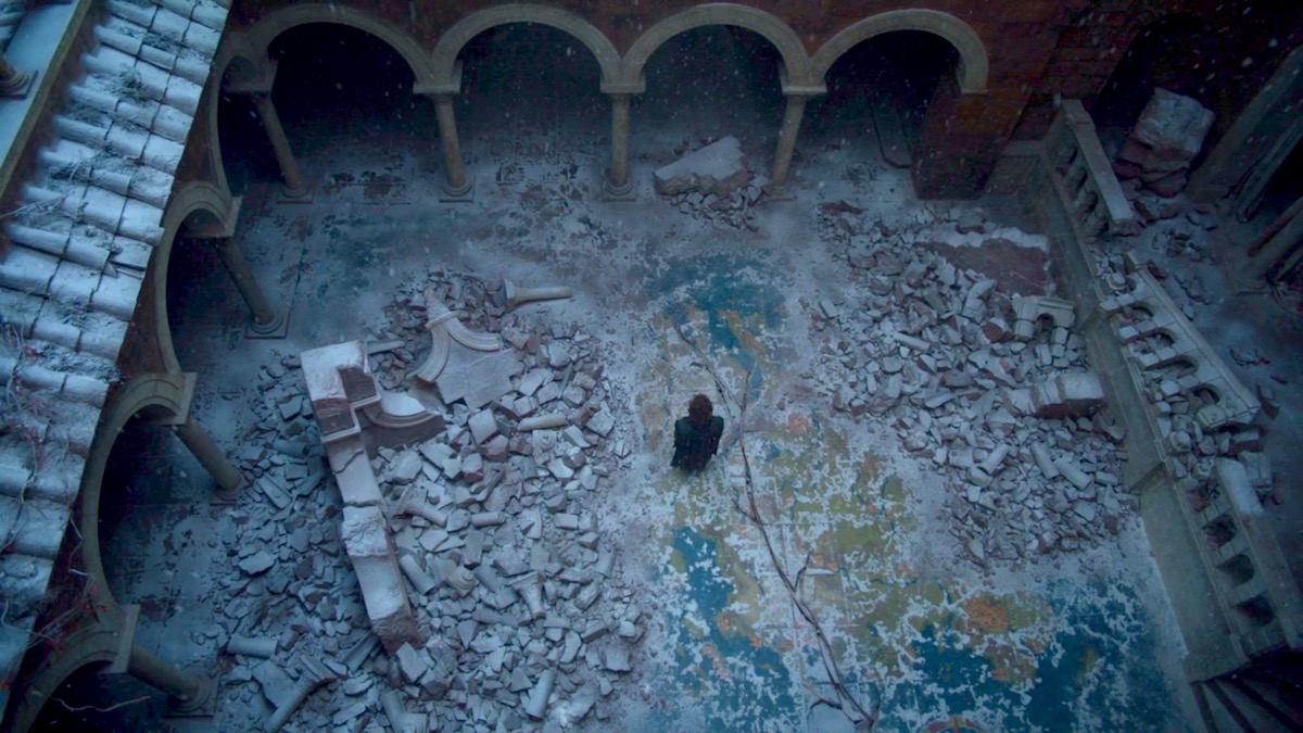 Tyrion on the Map in GoT 8x06