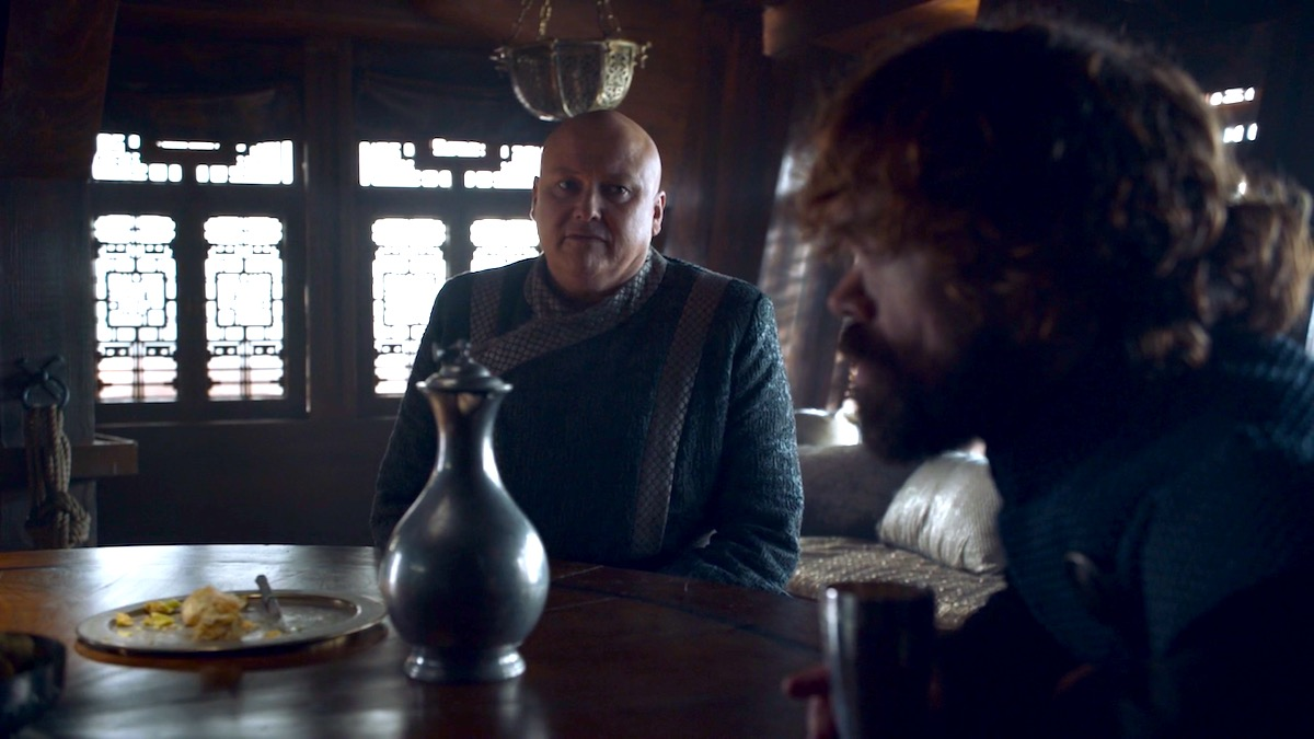 Varys and Tyrion in GoT 8x04
