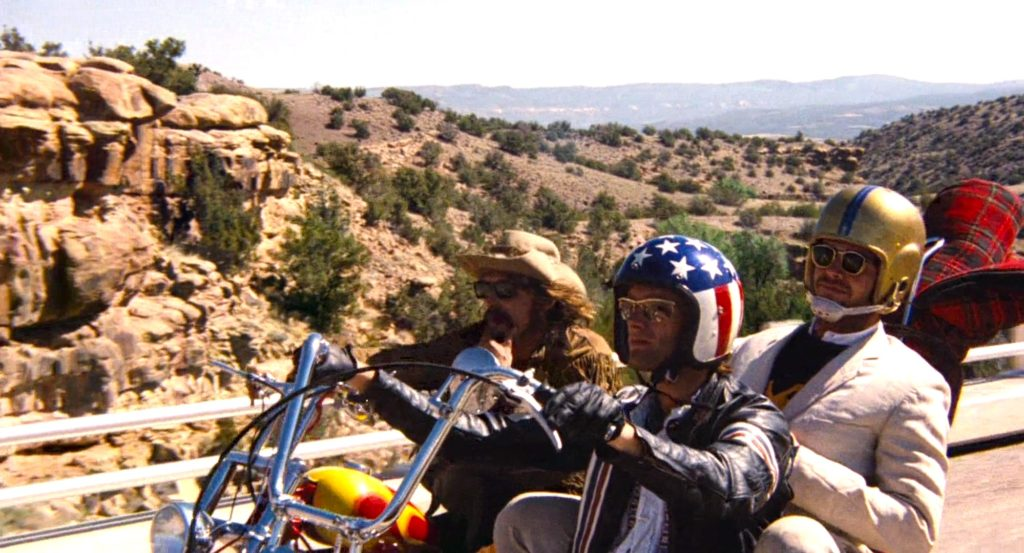Hopper, Fonda, and Nicholson in EASY RIDER (1969)