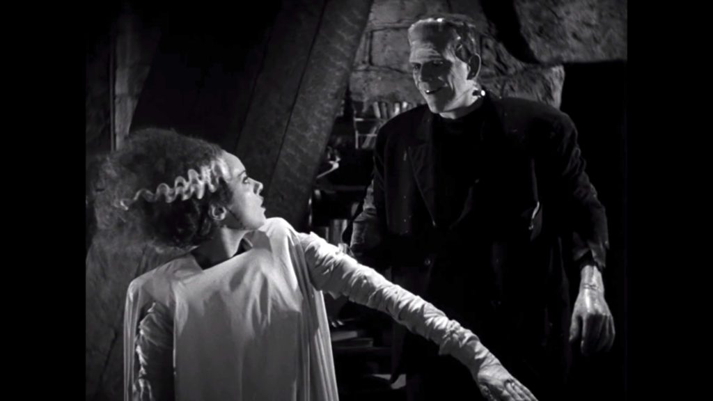Elsa Lanchester and Boris Karloff in BRIDE OF FRANKENSTEIN