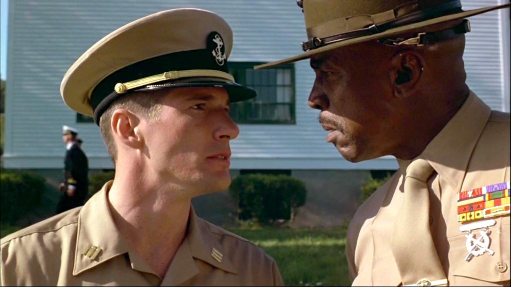 Richard Gere and Louis Gossett Jr. in AN OFFICER AND A GENTLEMAN