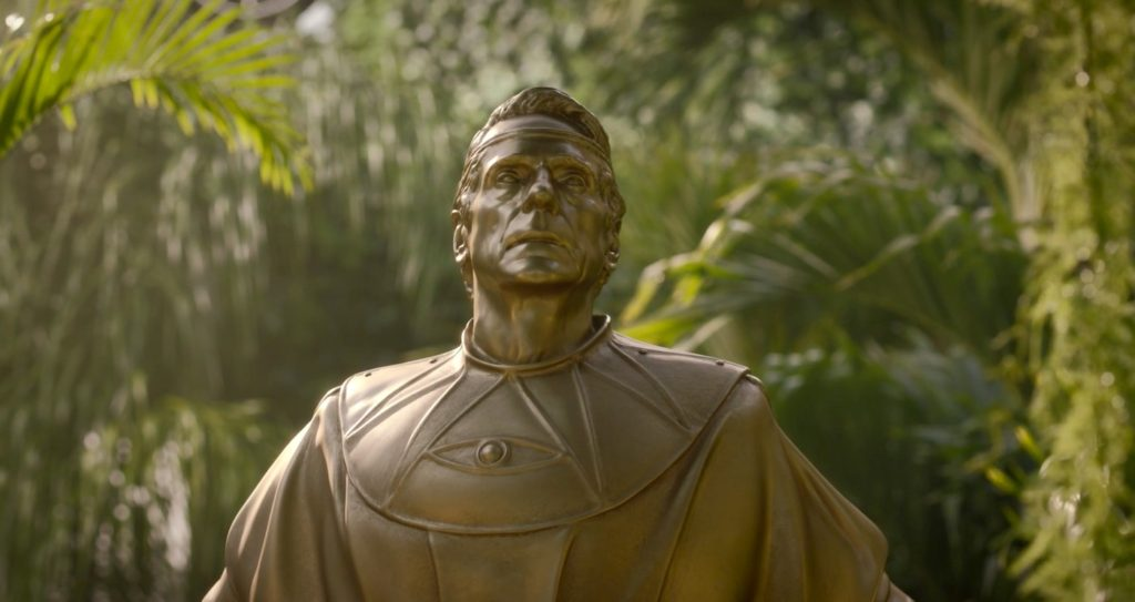 Statue of Ozymandias in WATCHMEN 1x04