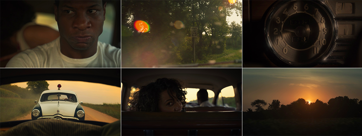 Shots from the sundown chase sequence in LOVECRAFT COUNTRY 1x01
