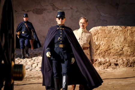 Johnny Depp and Mark Rylance in WAITING FOR THE BARBARIANS