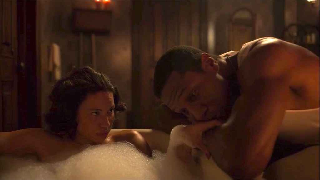 Leti (Jurnee Smollett) and Tic (Jonathan Majors) in LOVECRAFT COUNTRY 1X05 - Strange Case