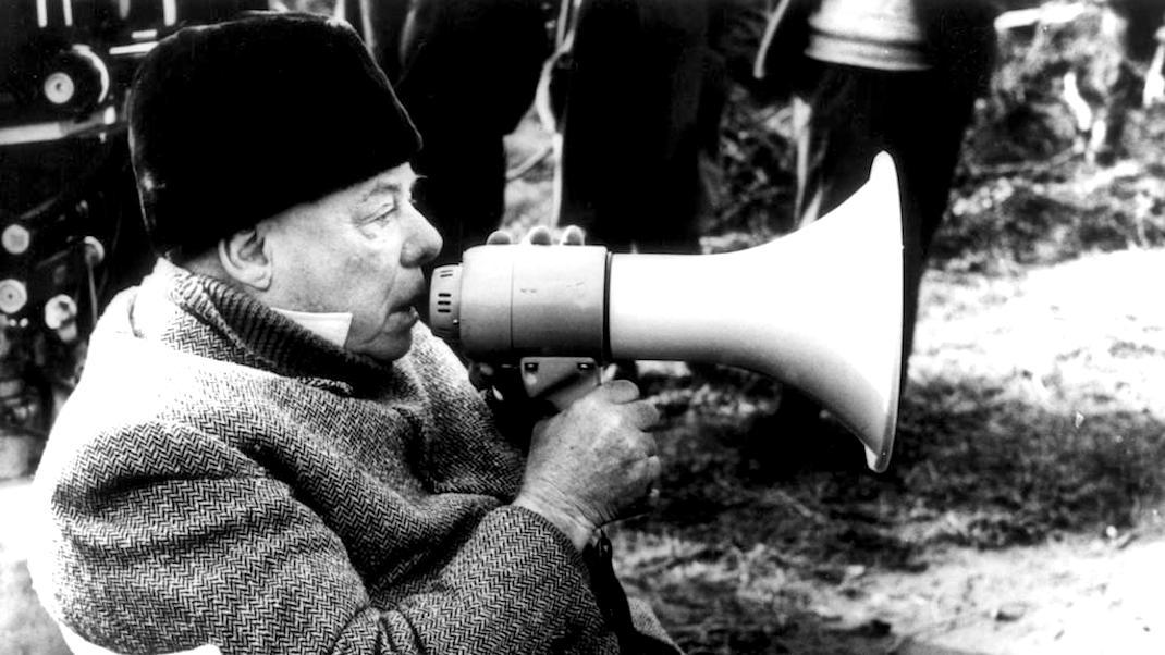 Jean Renoir in 1962, filming The Elusive Corporal.
