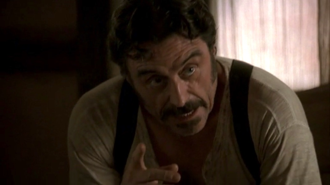 Al Swearengen (Ian McShane) in DEADWOOD 1X09