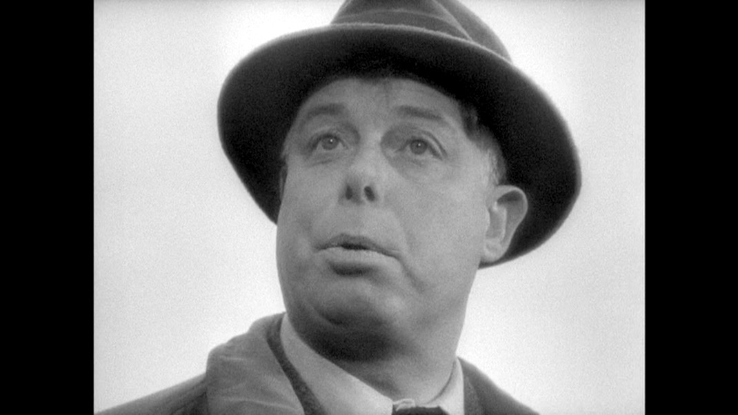 Jean Renoir as Octave in THE RULES OF THE GAME