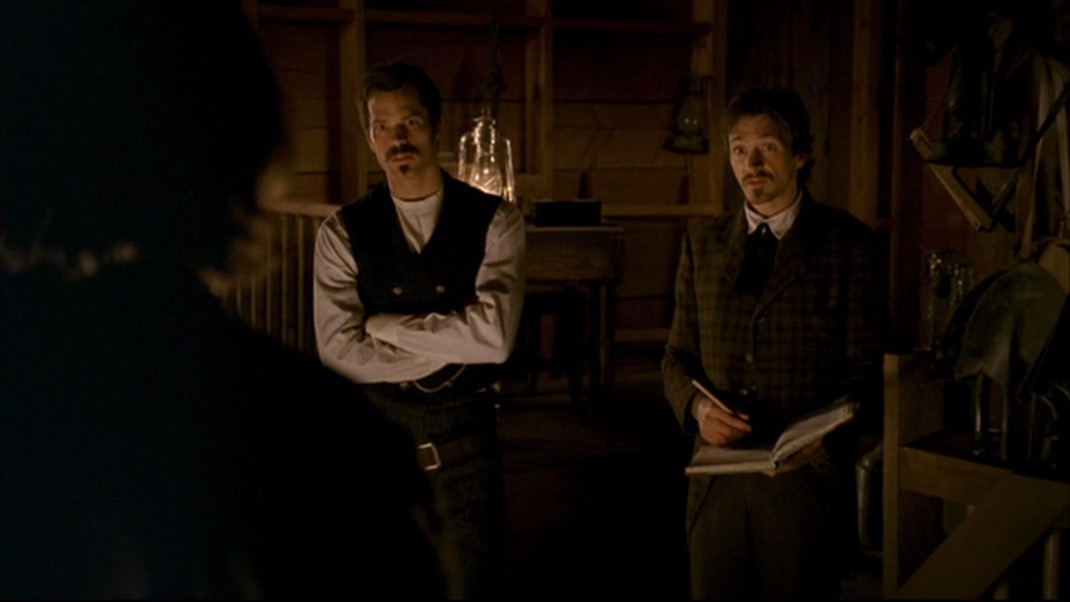 Smith, Bullock, and Star in DEADWOOD 1x10 - Mister Wu
