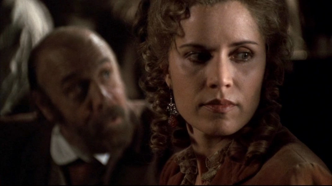 Charlie and Joanie in DEADWOOD 1x11 - Jewel's Boot is Made for Walking