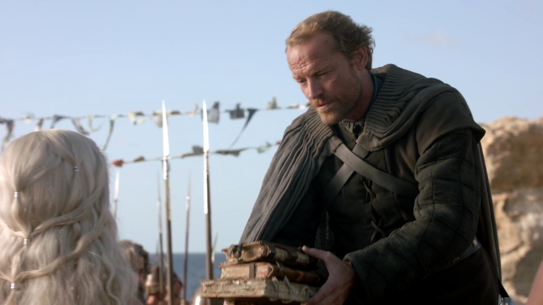 Dany and Jorah in GOT 1x01 - Winter is Coming