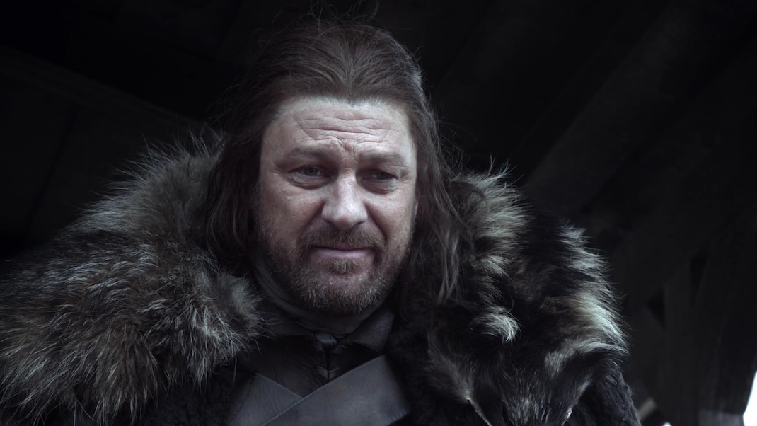 Ned Stark (Sean Bean) in GOT 1x01
