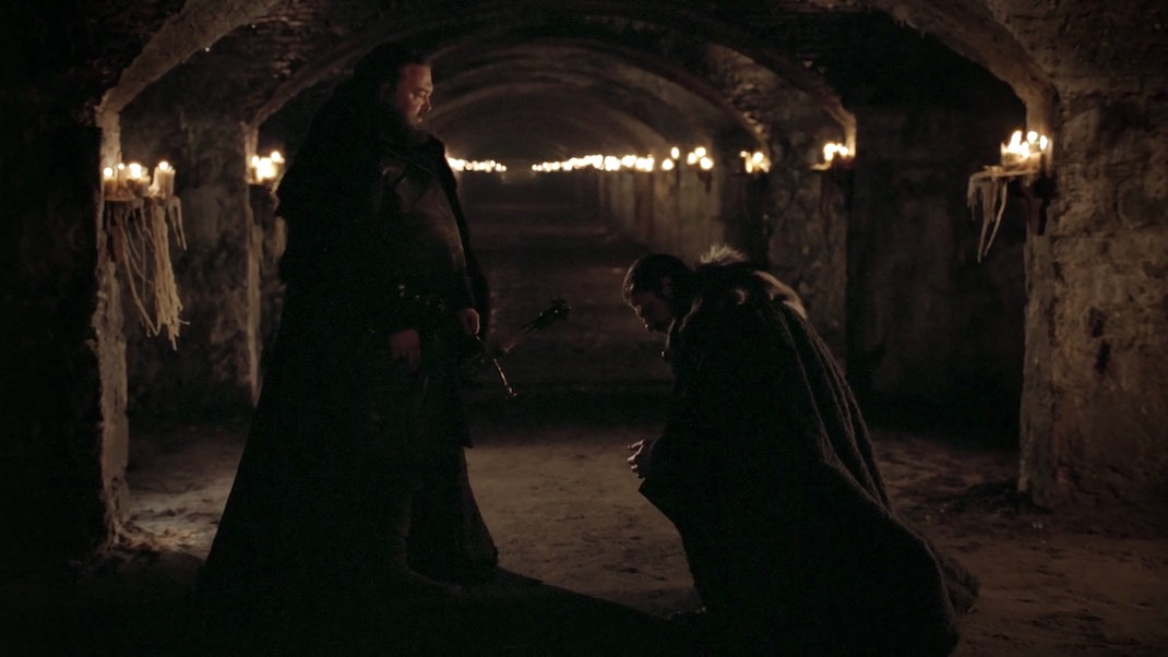 Ned and Robert in GOT 1x01