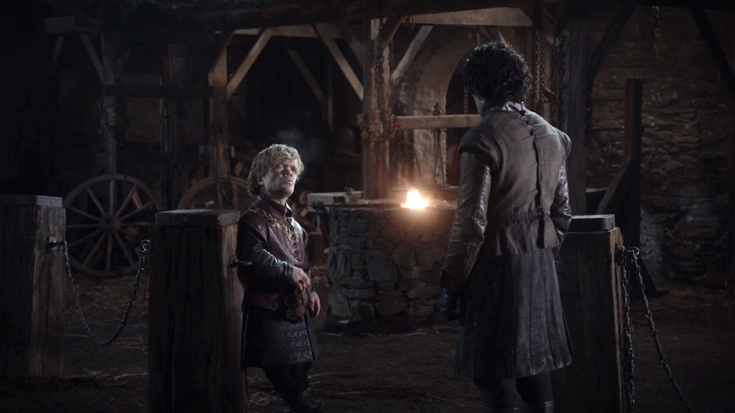 Tyrion and Jon in GOT 1x01 - Winter is Coming